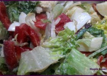 Simple Salad with Egg and Lettuce
