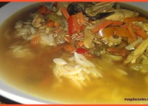 Oriental Soup with Orzo