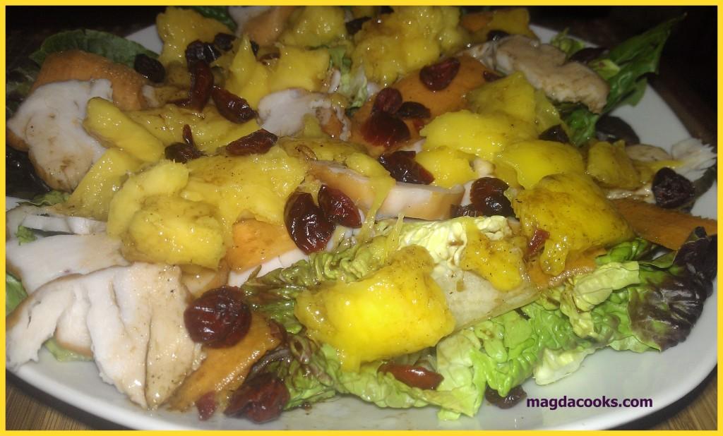 99 smoked chicken mango salad